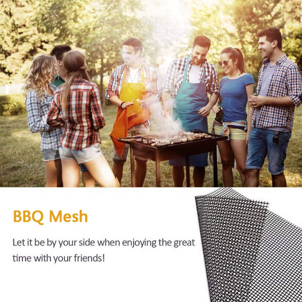 Pack of 5 Grill Mat BBQ Mesh Non Stick High Heat Resistance Cooking Liner Fish Grilling Sheet 33x40cm/13×15.7inch#625 by Bennett