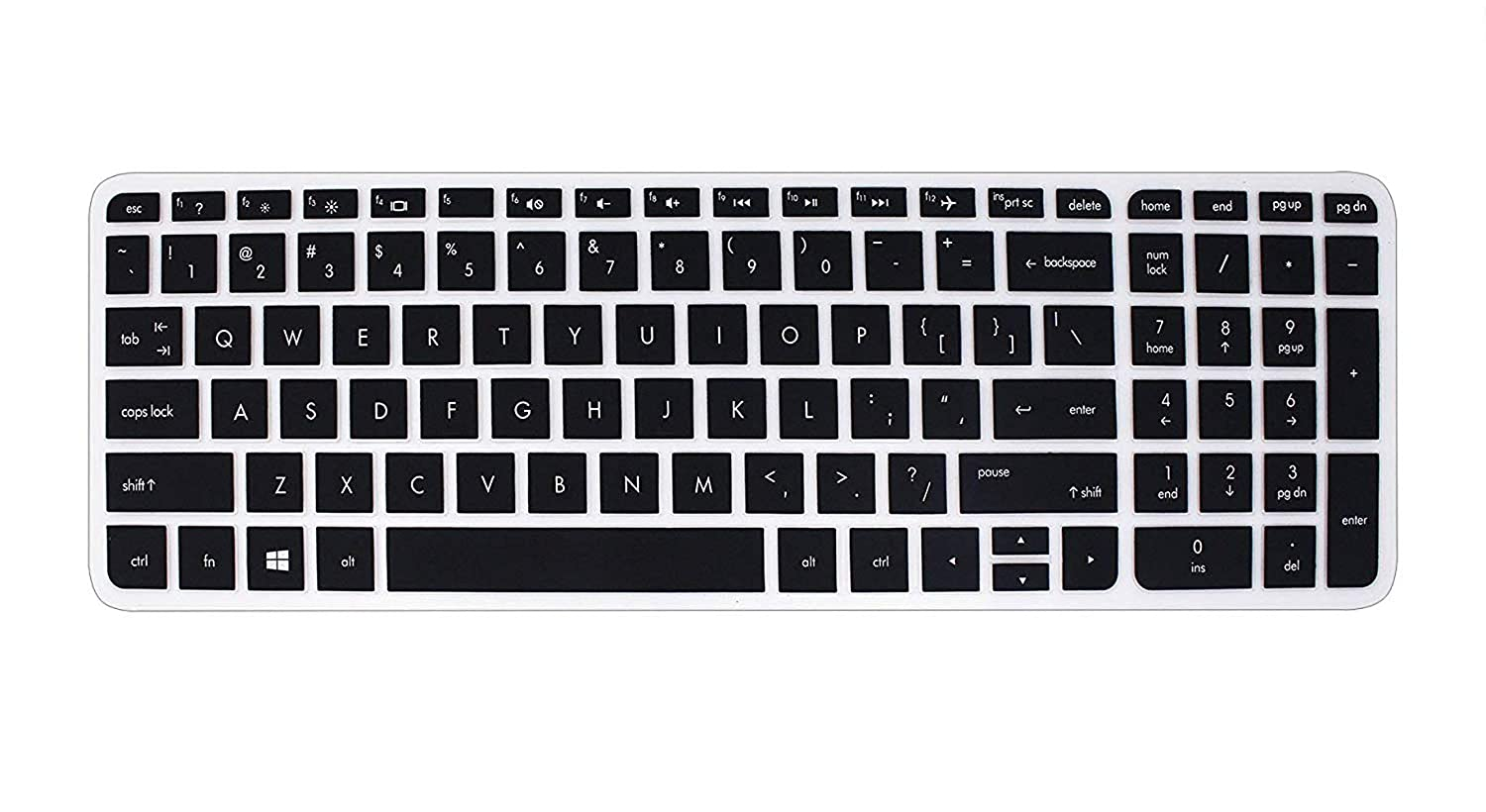 Notebook 15.6 inch Laptop Transparent Saco Keyboard Silicon Protector Cover for HP 15-ac027TX