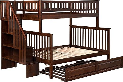 Atlantic Furniture Woodland - Litera para Escalera con Cama Nido: Amazon.es: Juguetes y juegos