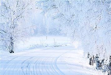Edcott 10x7ft Inverno Campo Di Neve Sfondo Innevato Fotografia