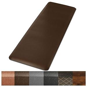 "Kitchen Mat | Anti Fatigue Mat, 3/8 Thick | Ergonomically Engineered, Non-Slip, Waterproof | 20""x72"" - Brown"