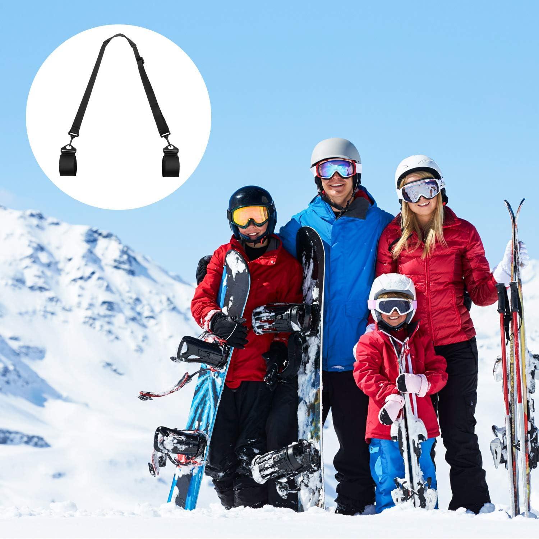 2 Packs Ski Straps Ski And Pole Carrier Strap