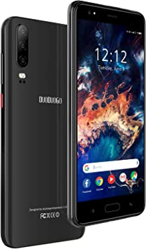Teléfono Móvil 16GB ROM (128GB SD), DUODUOGO J5 Smartphone Libre Dual SIM Android 9.0 4800mAh Batería Moviles Libres 4G Quad Core Cámara 8MP+5MP 4800mAh Batería WiFi/Hotspot (Negro): Amazon.es: Electrónica
