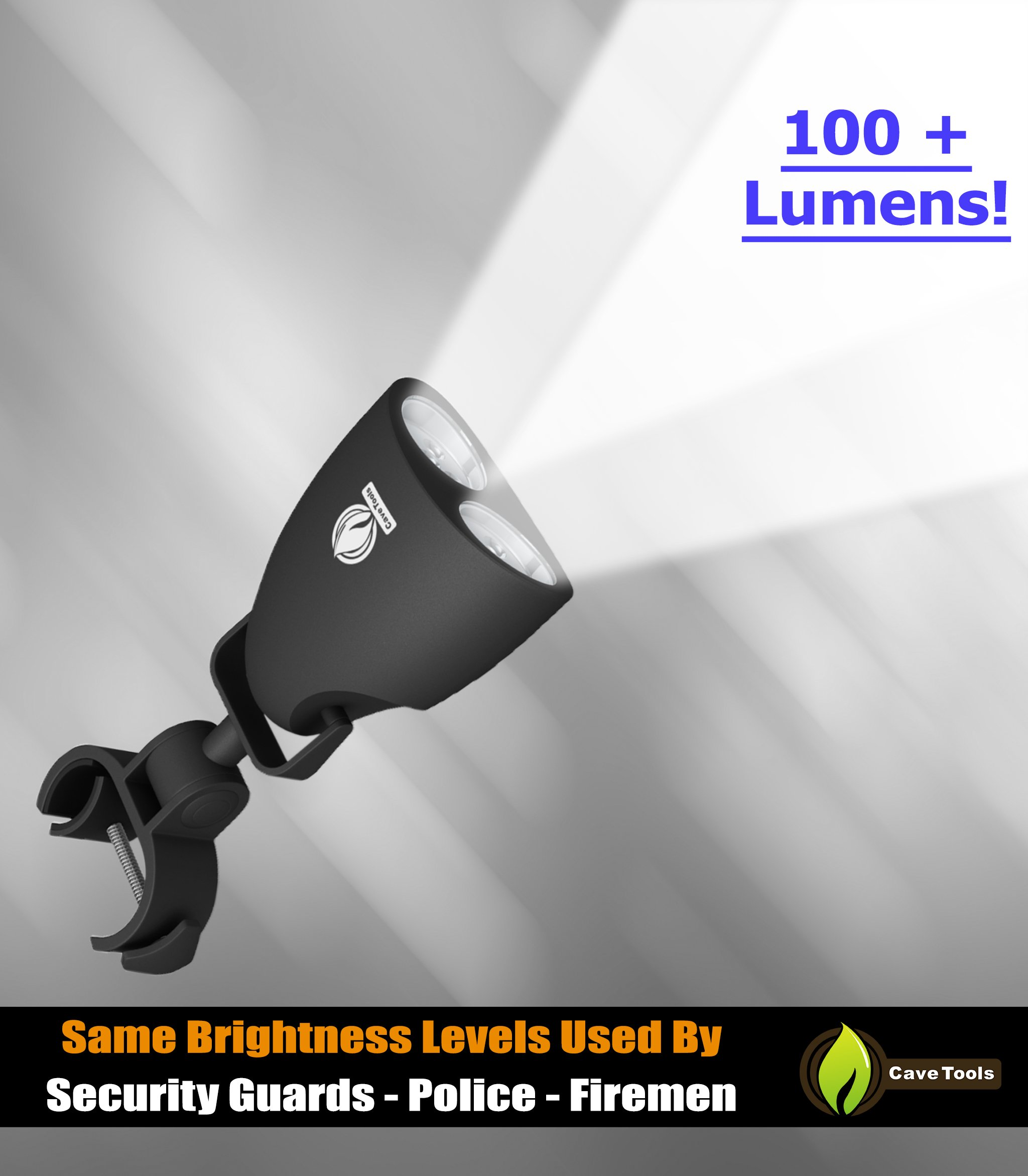 Cave Tools Barbecue Grill Light - Luxurious Gift Box - Upgraded Handle Mount Fits Round & Square Bars on Any BBQ Pit - 10 LED for Grilling at Night - Best Lighting Accessories by Cave Tools (Image #6)
