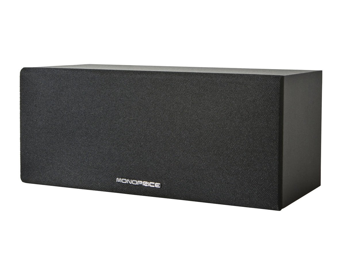 Monoprice 11948 Premium Home Theater Center Channel Speaker44; Black by Monoprice