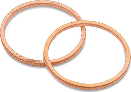 Kuryakyn 482 Crusher Cometic Exhaust Port Gaskets for Harley-Davidson  Milwaukee-Eight, Twin Cam, Evo Big Twin, XL Sportster Motorcycles, 1 Pair