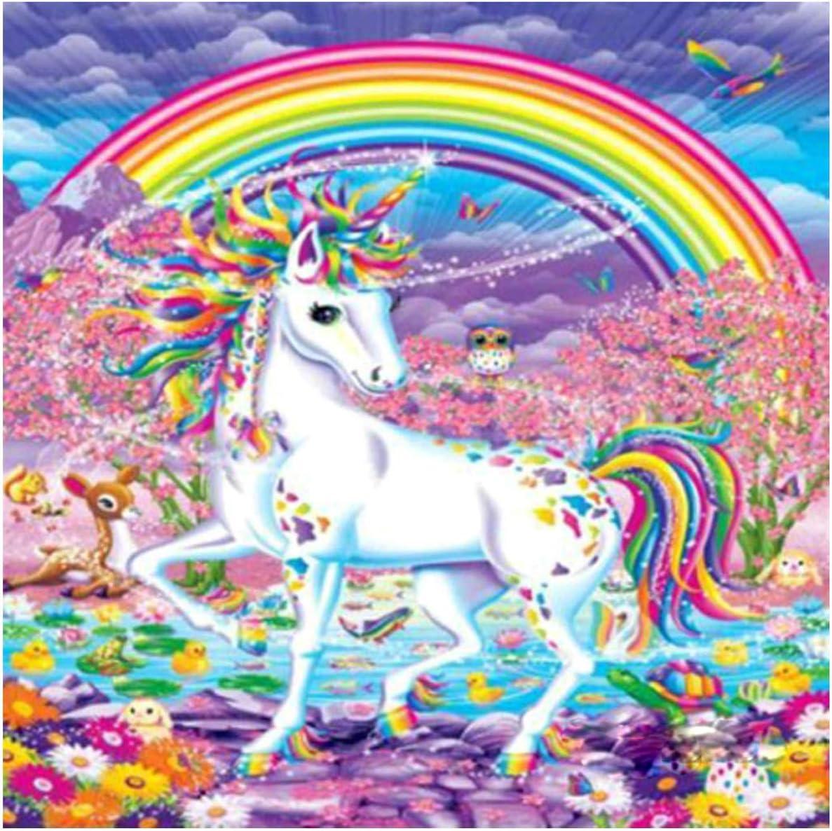 DIY 5D Diamond Painting Embroidery Cross Craft Stitch Kit Home Rainbow Unicorn