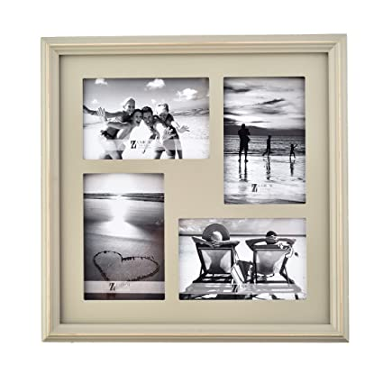 be40296234f9 Amazon.com - UMICAL 4x6 Picture Frame 4-Opening Collage Grey Wooden ...