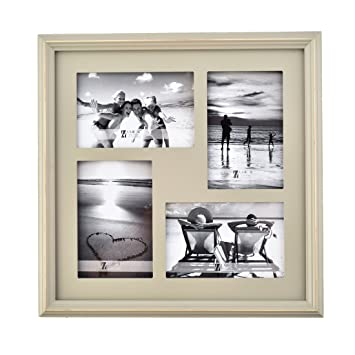 Amazoncom Umical 4x6 Picture Frame 4 Opening Collage Grey Wooden