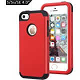 78a777e8274 Dailylux Funda iPhone 5s Funda iPhone SE Funda iPhone 5 Carcasa Protector  TPU + PC Resistente