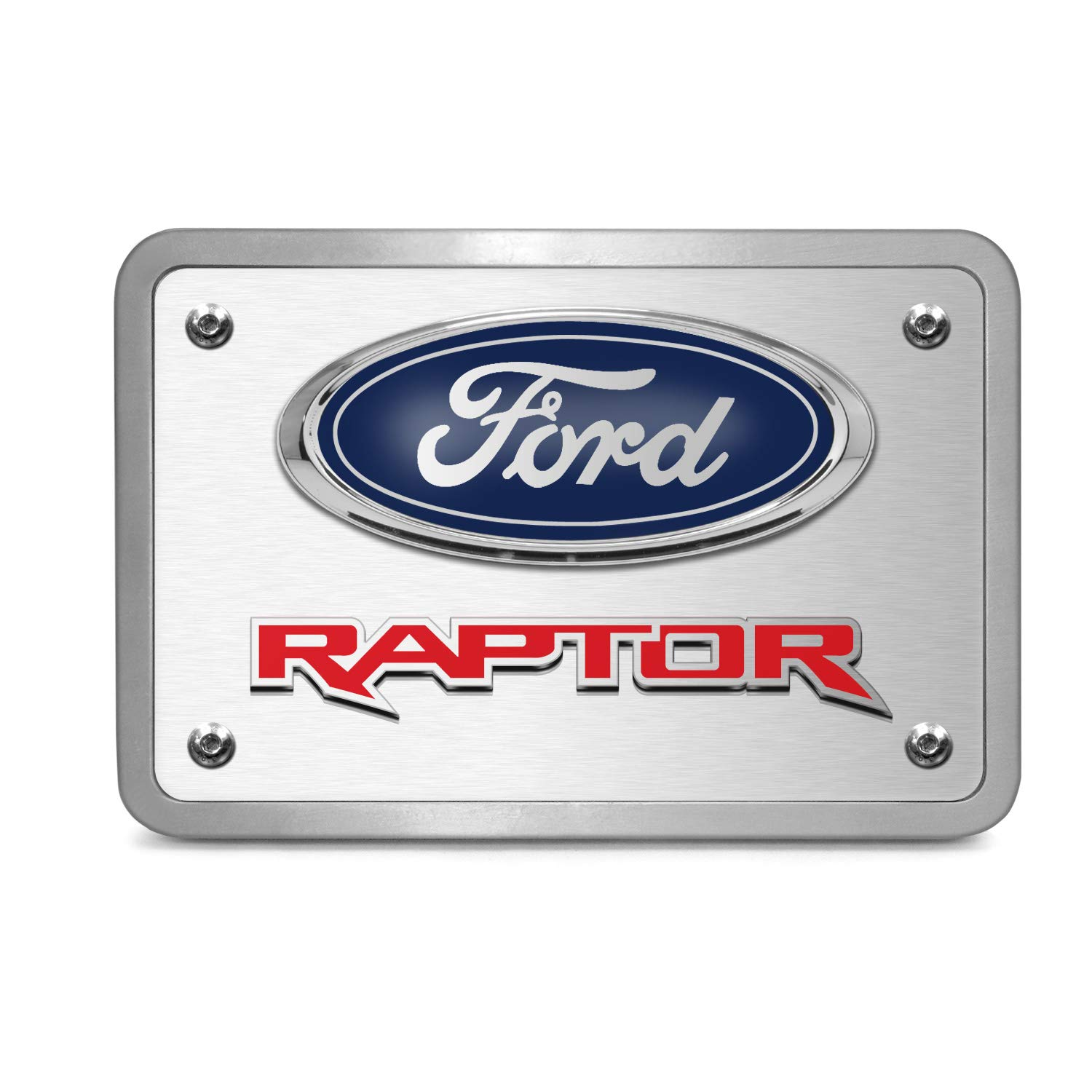 iPick Image for Ford F-150 Raptor in Red 3D Logo Brushed 3//8 Thick Billet Aluminum 2 inch Tow Hitch Cover