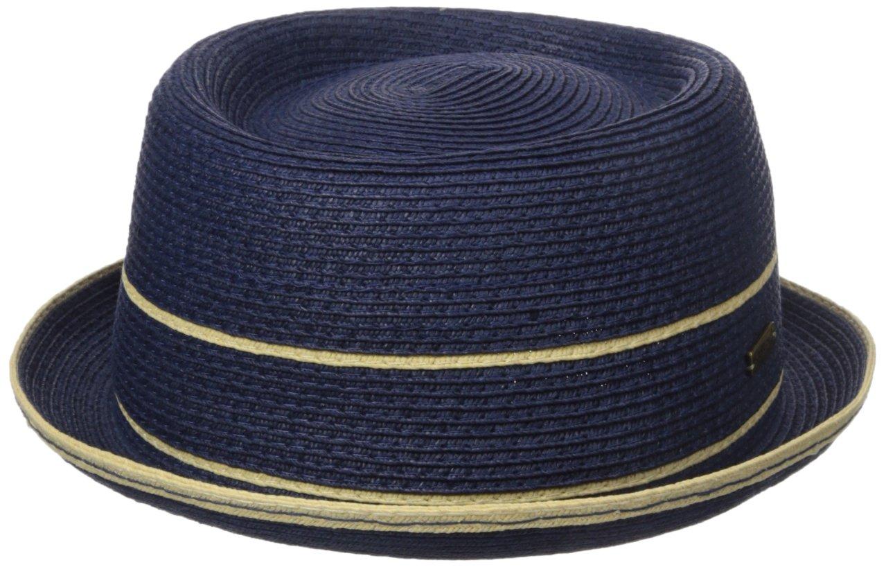 Kangol Men's Fine Braid Porkpie, Navy, S