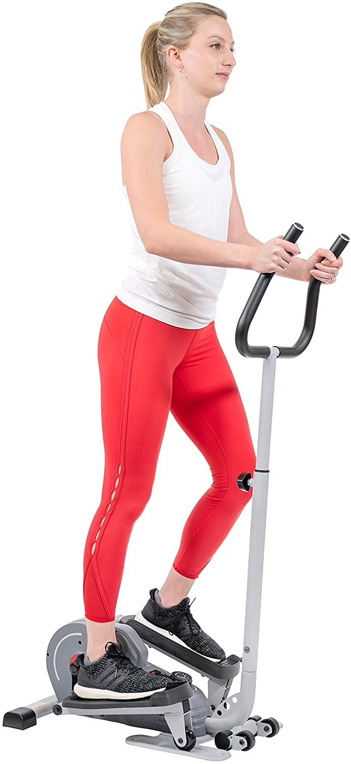 Sunny Health & Fitness Magnetic Standing Elliptical with Handlebars - SF-E3988