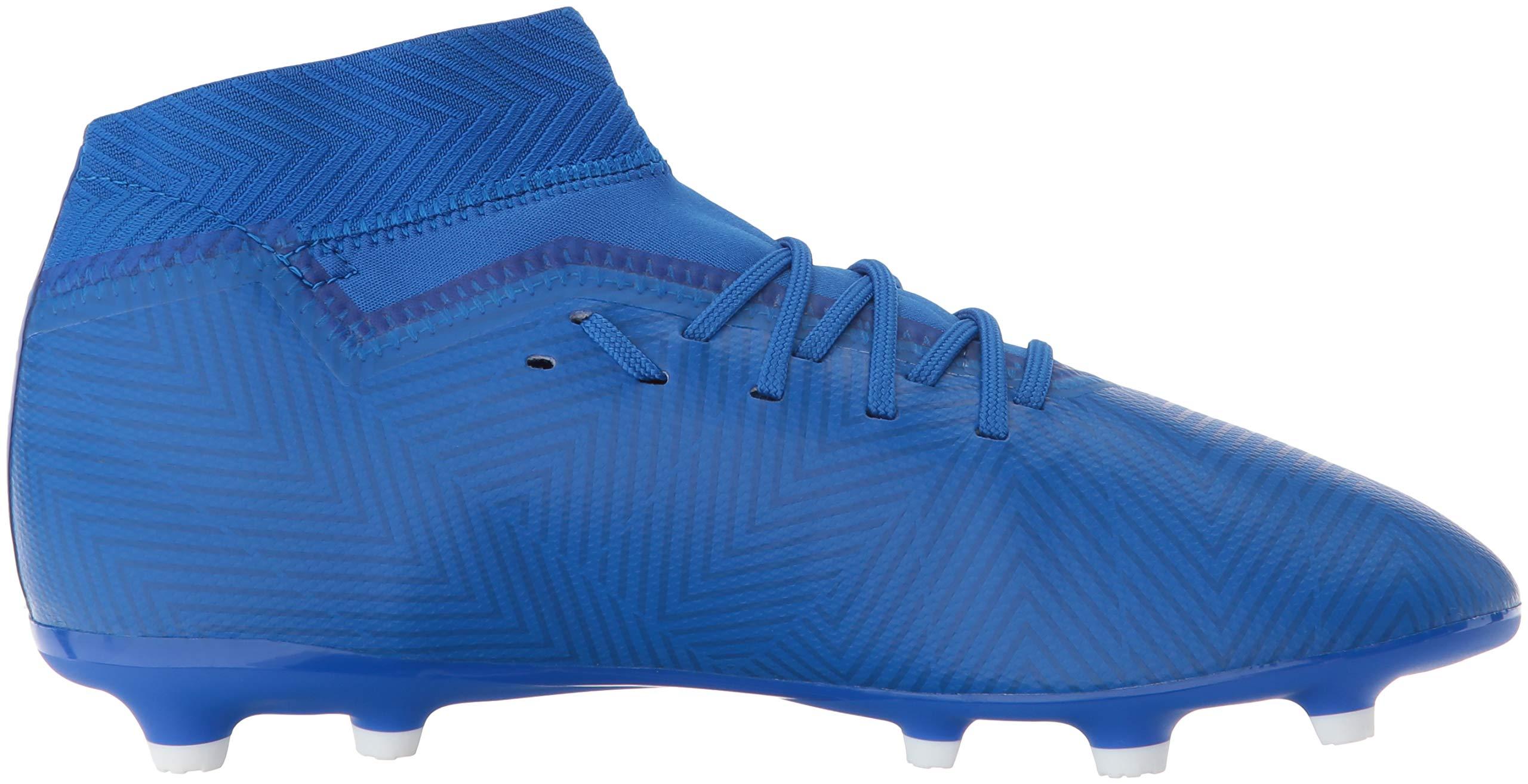 adidas Unisex Nemeziz 18.3 Firm Ground Soccer Shoe, White/Football Blue, 3.5 M US Big Kid by adidas (Image #7)