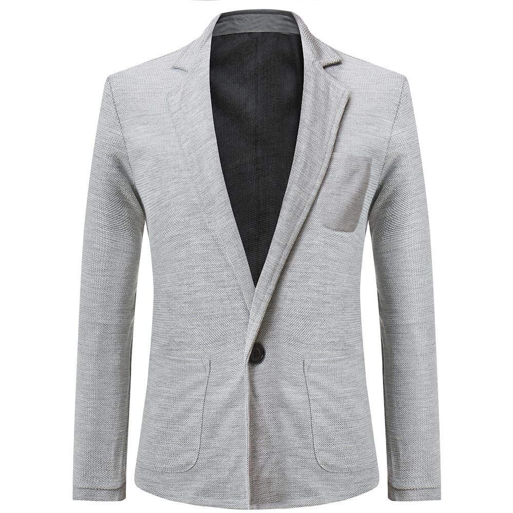 Men's Jacket for Men's Autumn Winter Formal Slim Suit Trench Coat,Pea Coat (L,Gray) by Ennglun Jacket mens Coats