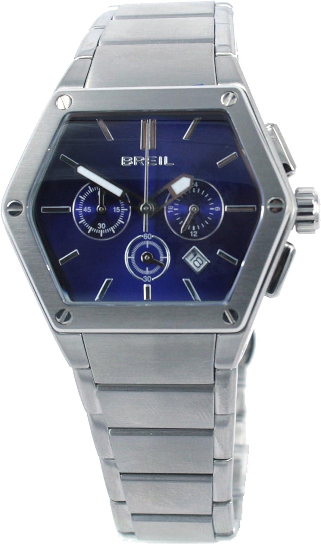 Breil TW0658 - Reloj analógico de Cuarzo para Hombre con Correa de Acero Inoxidable, Color Plateado