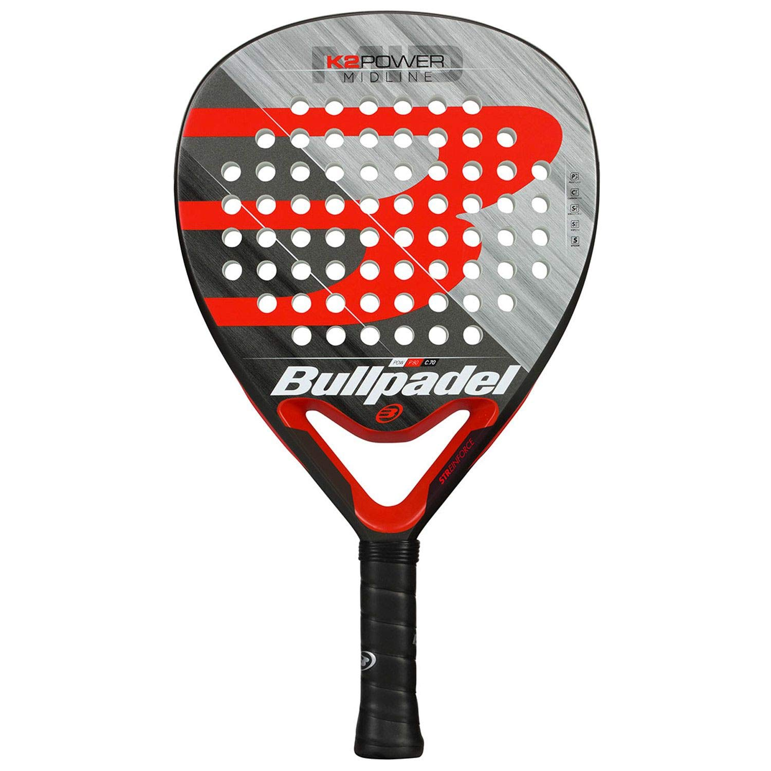 Bullpadel K2 Power 2019 Palas, Adultos Unisex, Negro, 380: Amazon.es: Deportes y aire libre