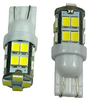 2pcs 20-SMD T10 12V Light LED Replacement Bulbs + STICKER 168 194 2825 W5W  sc 1 st  Amazon.com & Amazon.com: 2pcs 20-SMD T10 12V Light LED Replacement Bulbs + ... azcodes.com