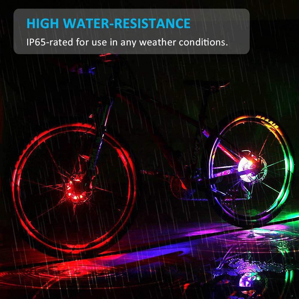 21 Patterns LED Colorful Bike Wheel Spoke Light Cycling Warning Lamp Mgic