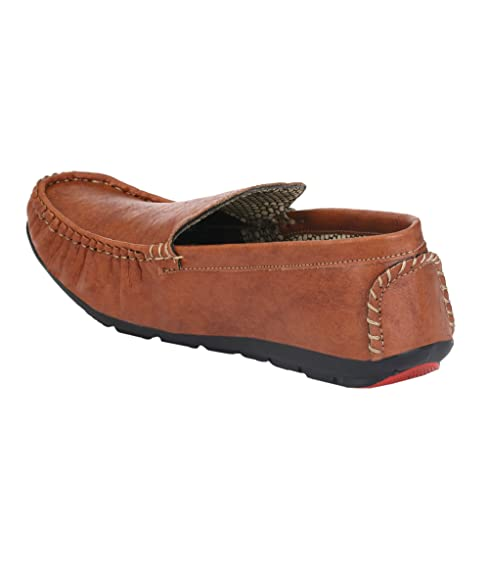 8a864b5c702 Knoos Men Synthetic Leather Loafers  Buy Online at Low Prices in India -  Amazon.in
