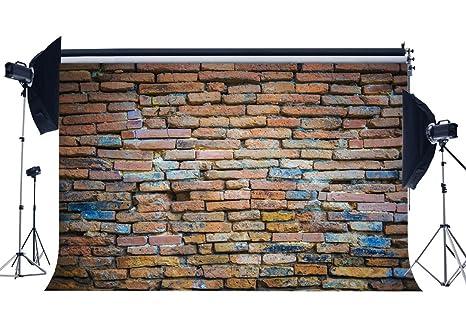 Amazon Com Gladbuy Weathered Brick Wall Backdrop 9x6ft Vinyl Rural
