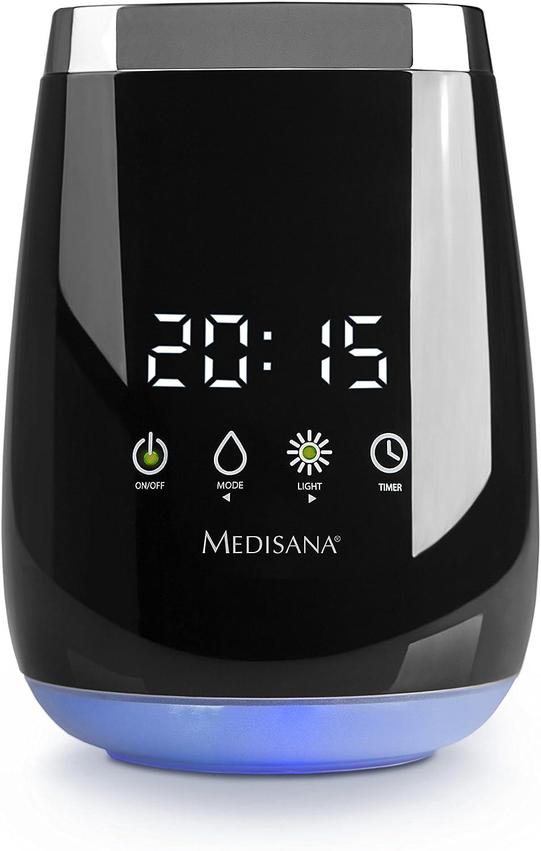 Medisana AD 640 60086, Difusor de Aromas, para una fragancia agradable en la habitación, luz LED spa en 3 colores ...