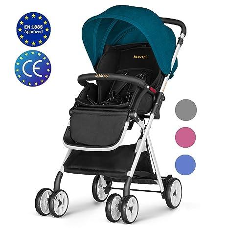 Silla de paseo, Besrey Cochecito plegable Silla paseo ligera para bebe/niños hasta 3 años Carrito Bebe Compacta ECE