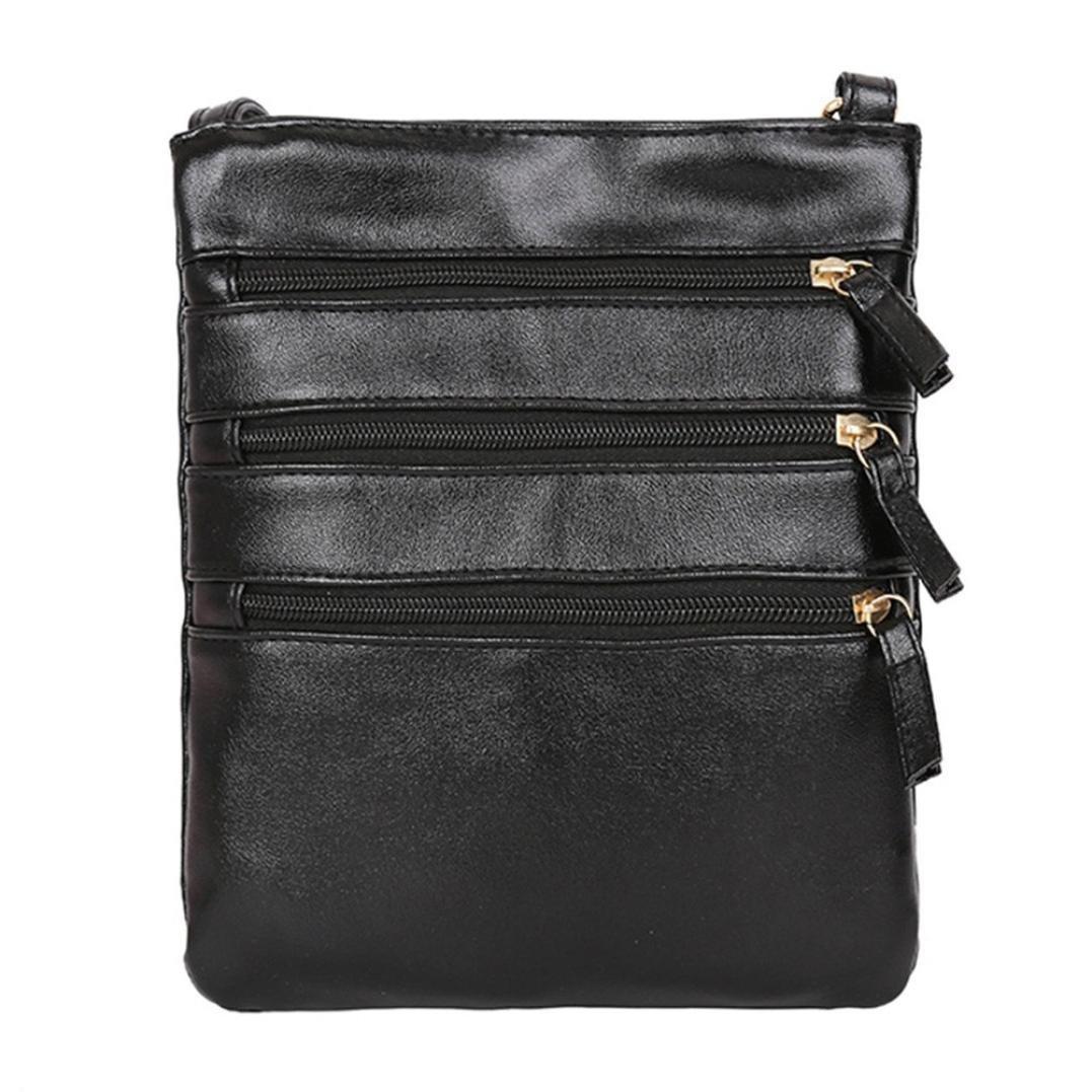 Mujeres de la moda de color puro cuero Crossbody bolsas Messenger hombro Lady Bag ☚Longra: Amazon.es: Alimentación y bebidas