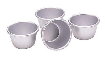 Kitchen Craft - Moldes de aluminio anodizado (4 unidades, 7,5 cm)