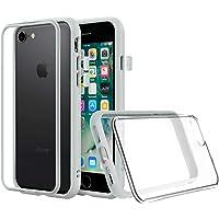RhinoShield Coque pour iPhone 7 / iPhone 8 [Mod NX] Protection Fine Personnalisable avec Technologie Absorption des Chocs [sans BPA] + [Programme de Remplacement Gratuit] - Gris Platine