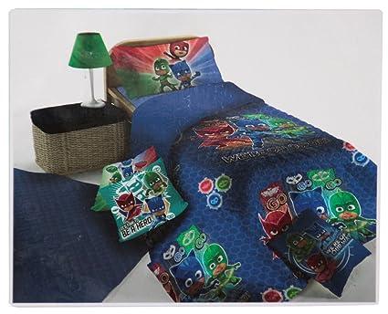 Colcha acolchada Primavera Verano Trapuntino de Verano original PJ MASKS cama individual Una 1 plaza cm