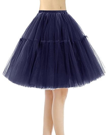 Bridesmay Faldas Cortas De Mujer Cancan Enagua para Fietsa Boda ...