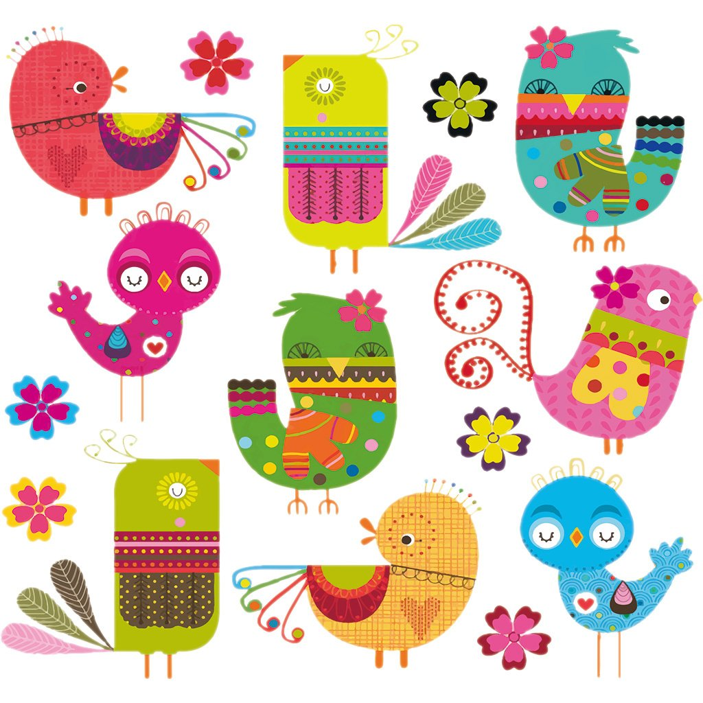 Patches For Kids Clothes, Lovely Birds Patch DIY Accessory A-level Washable Heat Transfer Iron-on Stickers Appliques Logres