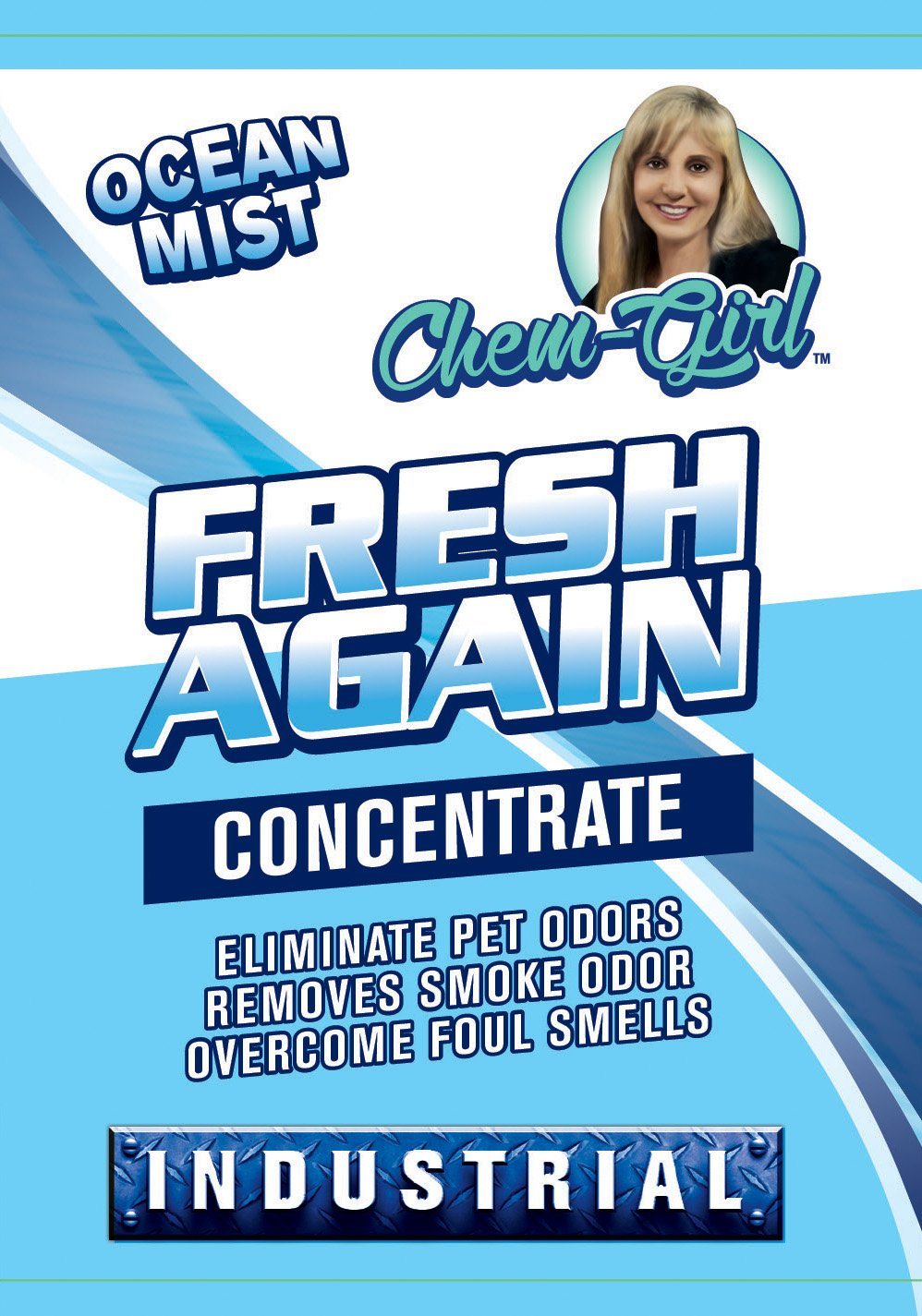 Chem-Girl | FRESH AGAIN | Household Deodorizer | Multi-Purpose Odor Eliminator | Neutralizes Foul Odors | Great for Upholstery, Carpets, Rugs, Dog Beds & Litter Box | Industrial Strength | Concentrate