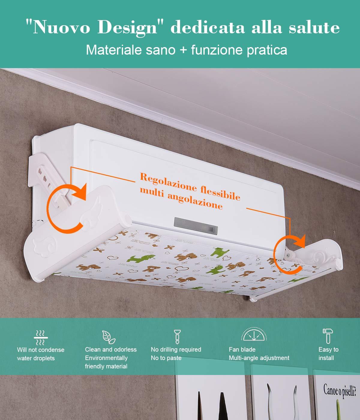 Mr.You deflector de vent de Air Conditioner deflector r/étractable de sortie du Multicolore Pet
