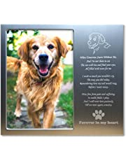 99a65846991e JOEZITON Pet Memorial Personalized 4x6 Picture Frame (More Choices) or  Stone for Loss of