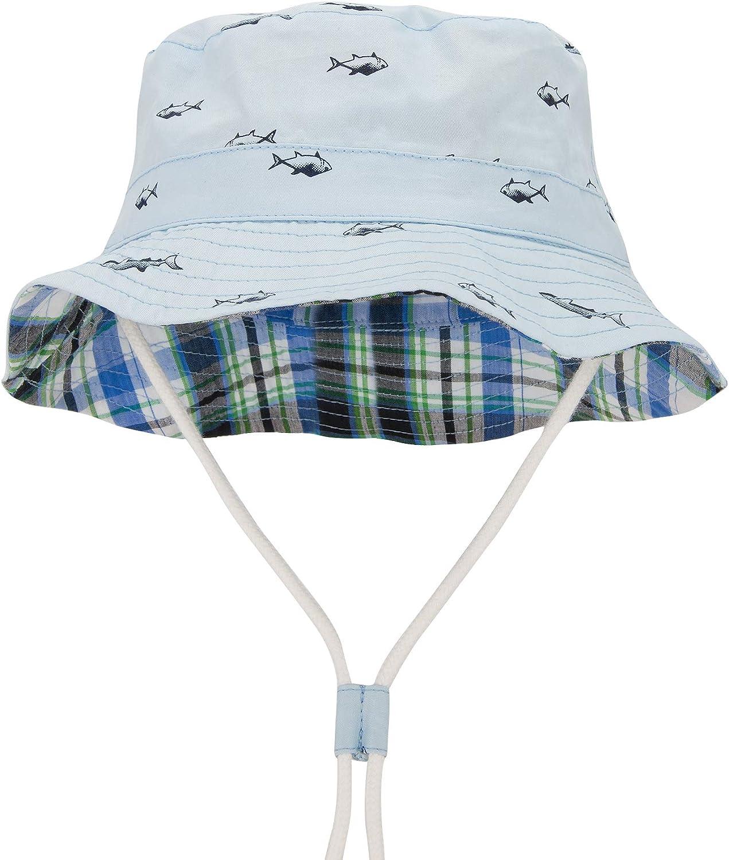 Durio Baby Sonnenhut Atmungsaktiv Sommerhut Kinder Fischerhut UV-Schutz Unisex Cap mit Verstellbarem Bindeb/ändern