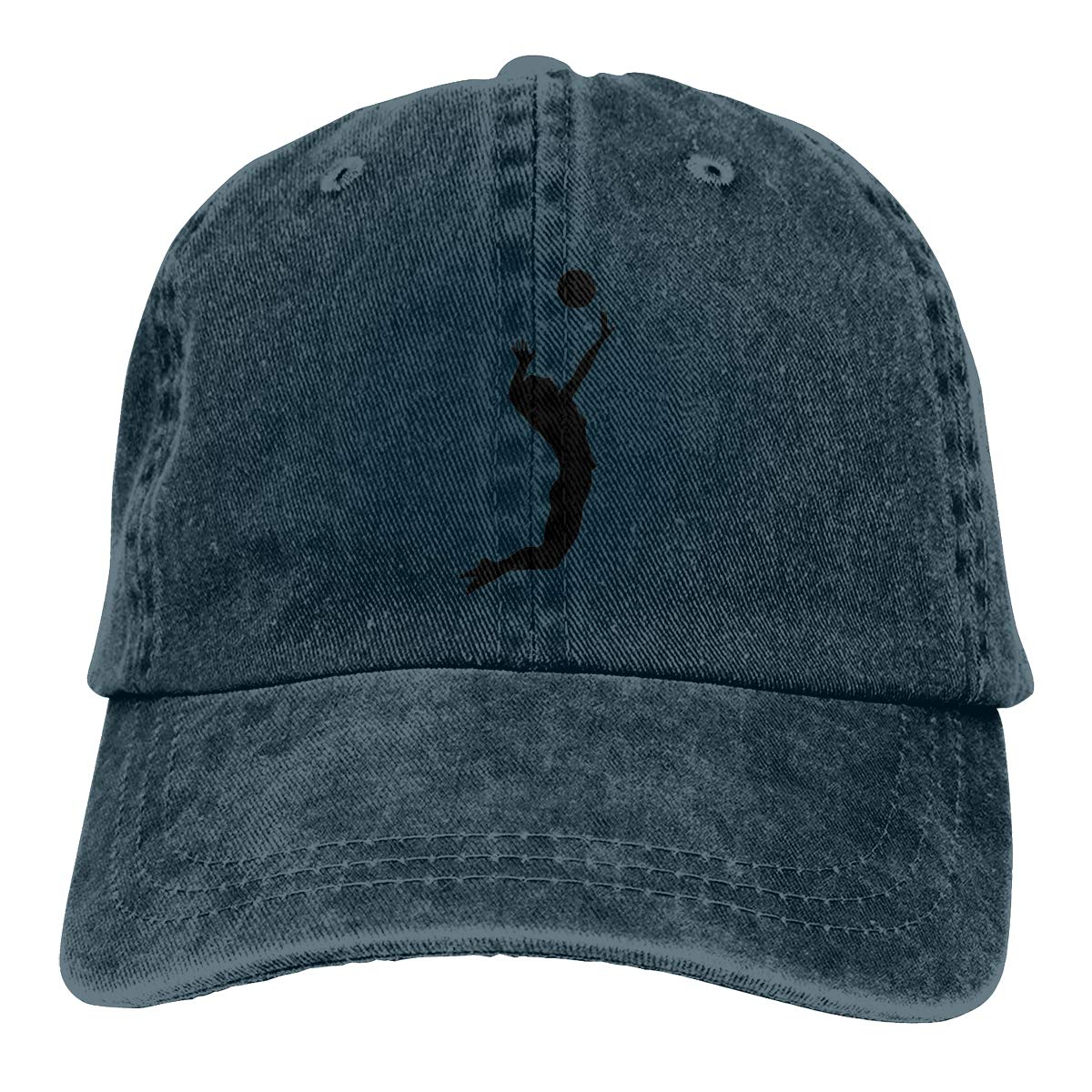 Qbeir Adult Unisex Cowboy Cap Adjustable Hat Volleyball Cotton Denim