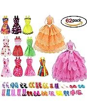 (10Corto Faldas + 2Vestidos de novia) + (40pares de zapatos) (2combinaciones de Ware, aleatorio de colores)