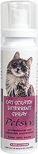 QUTOP Cat Deterrent Spray, Cat Scratch Deterrent Training Spray Safe for Plants, Floors, Cat Repellent Spray Protect Your Furnture