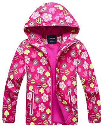 cdf2a0c57502 Amazon.com  Welity Girl s Full Zip Warm Fleece Lined Waterproof ...