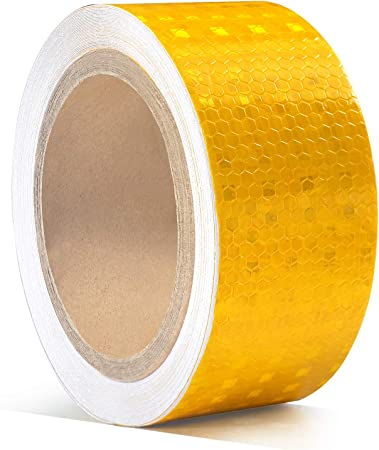"*Orange 2/""x150/' Reflective Safety Tape DOT-C2 Warning Sticker Conspicuity Decal"