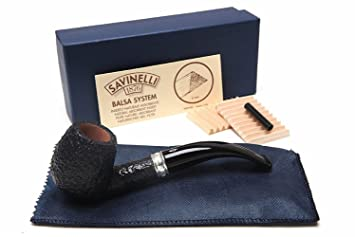 Savinelli Italian Tobacco Smoking Pipes, Trevi Rusticated 602
