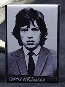 Mick Jagger Mugshot Refrigerator Magnet.