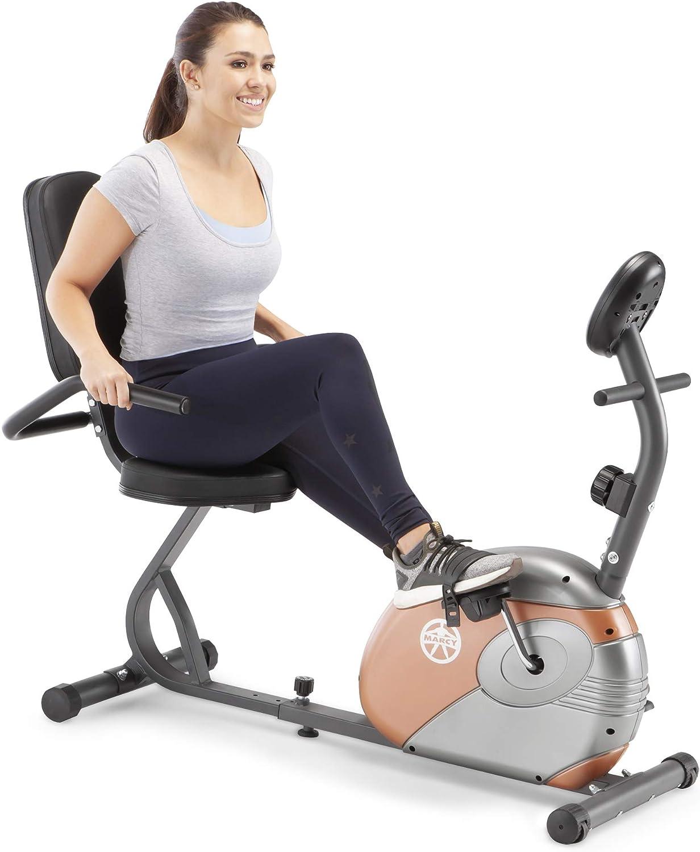 Amazon.com : Marcy Recumbent Exercise Bike with Resistance ME-709 ...
