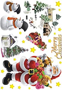 Christmas Removable Wall Stickers Art Decals Mural DIY Wallpaper for Room Decal