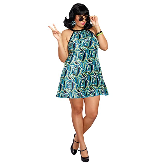 Hippie Costumes, Hippie Outfits Dreamgirl Womens Beat Goes On Plus Size  AT vintagedancer.com