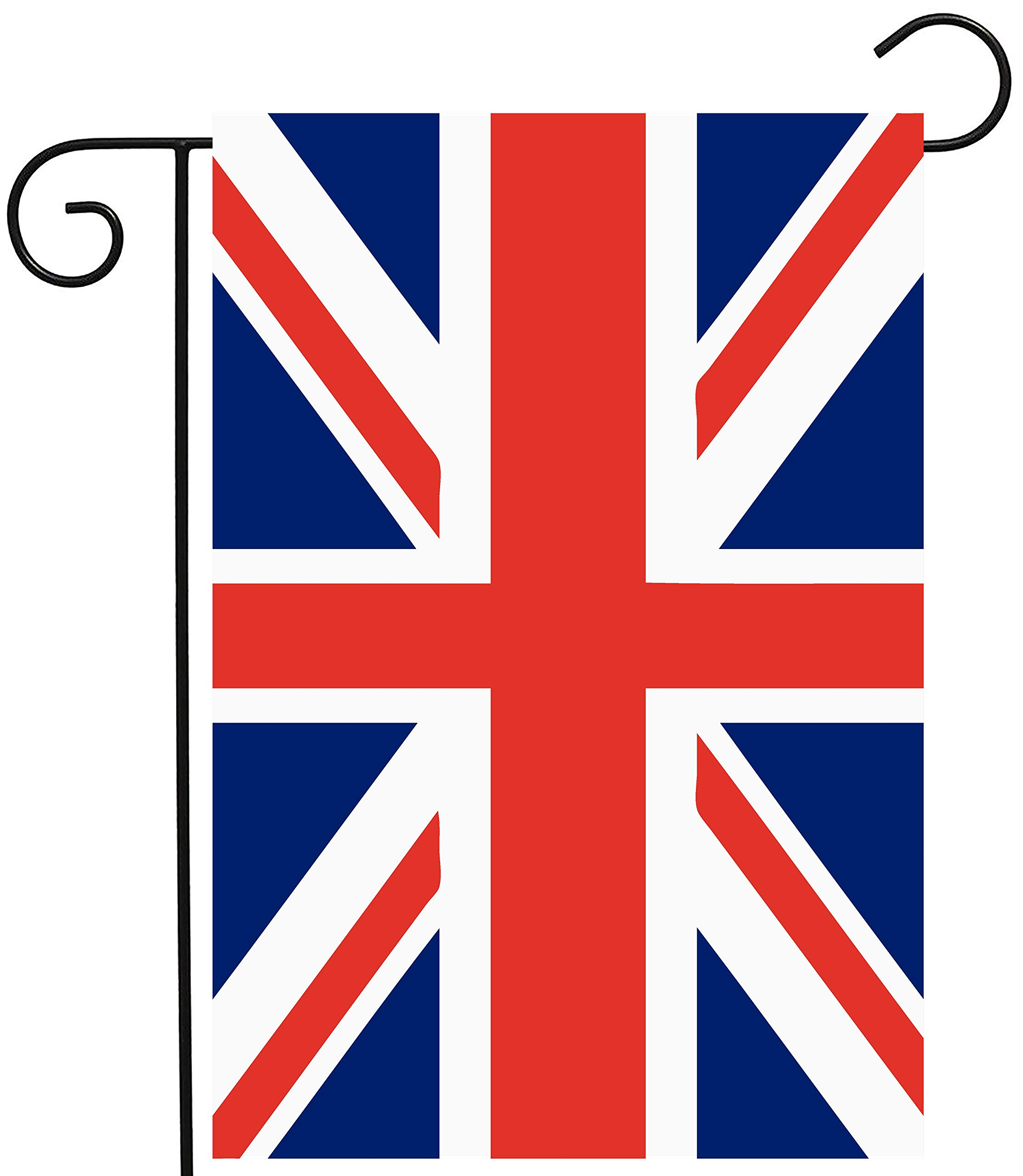 ShineSnow Union Jack British UK Flag Garden Yard Flag 12''x 18'' Double Sided, Polyester Great Britian England United Kingdom Welcome House Flag Banners Patio Lawn Outdoor Home Decor