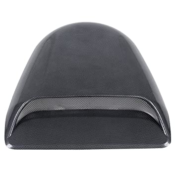 Acouto Universal Car Dekorative Kohlefaser Look Air Flow Intake Scoop  Motorhaube Vent Abdeckung Haube