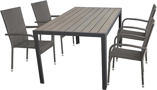 Terraza de 5 partes Muebles de Jardín (aluminio polywood/Non Wood ...
